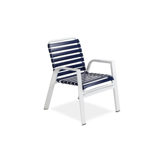 Endure-Strap-Arm-Dining-Chair—Textured-White—Navy-Strap-IMG_6570-