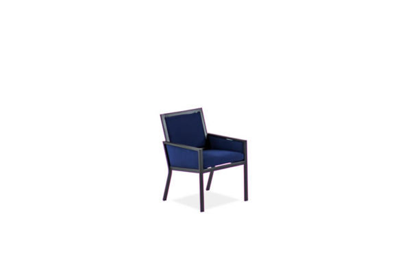 Parkview Knit – Dining Arm Chair – Text Black – Sparkle Navy IMG_4606-_800x800