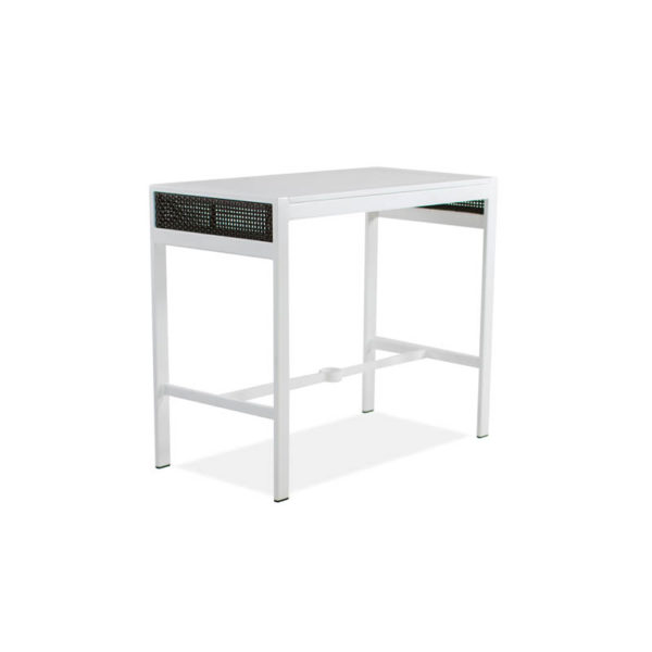 Parkview-Woven—25×48-Bar-Table—Textured-White—Brz-Woven-IMG_2339-
