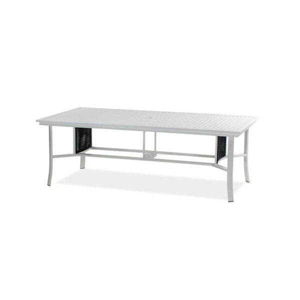 Parkview-Woven—44×87-Dining-Table—Textured-White—Blk-Woven-IMG_1211-