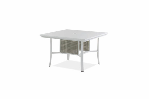 Parkview Woven – 48 Sq Dining Table – Textured White – Wht Woven IMG_1162-_800x800